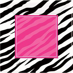 "Zebra Party 10"" Dinner Plates (8 Pack)"