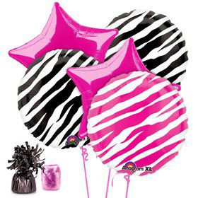 Zebra Party Balloon Kit