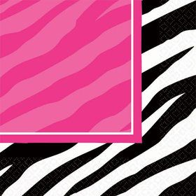 Zebra Party Beverage Napkins
