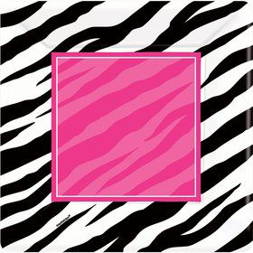 Zebra Party Cake Plates (8 Pack)