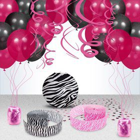 Zebra Party Decoration Kit