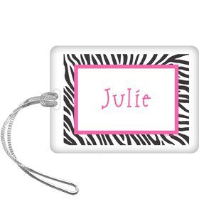 Zebra Party Personalized Bag Tag (each)