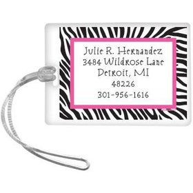 Zebra Party Personalized Luggage Tag (each)