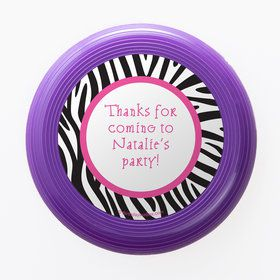 Zebra Party Personalized Mini Discs (Set of 12)