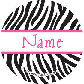 Zebra Party Personalized Mini Stickers (Sheet of 20)