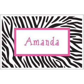 Zebra Party Personalized Placemat (each)