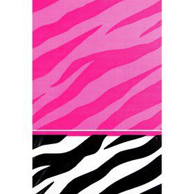 Zebra Party Plastic Table Cover