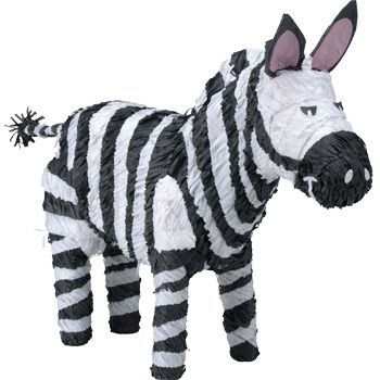 Zebra Pinata - Party Supplies