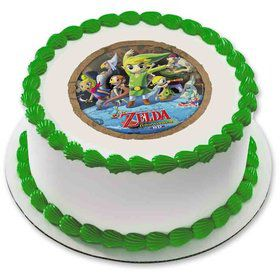 "Zelda 7.5"" Round Edible Cake Topper (Each)"