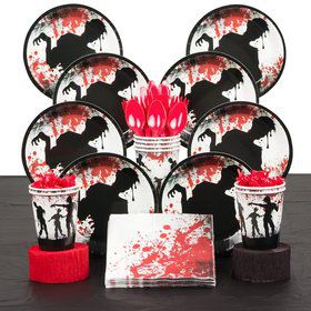 Zombie Birthday Party Deluxe Tableware Kit Each