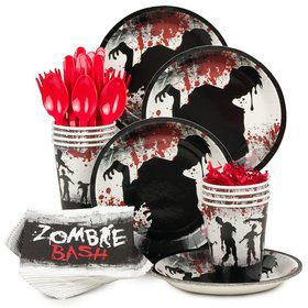 Zombie Birthday Party Standard Tableware Kit Serves 8