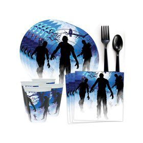 Zombie Party Standard Tableware Kit (Serves 8)