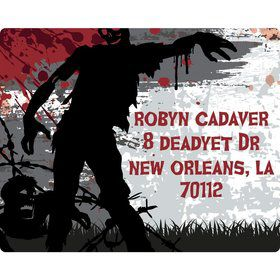 Zombie Personalized Address Labels (Sheet of 15)