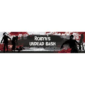 Zombie Personalized Banner (Each)