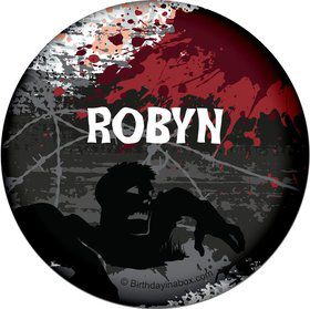 Zombie Personalized Button (Each)