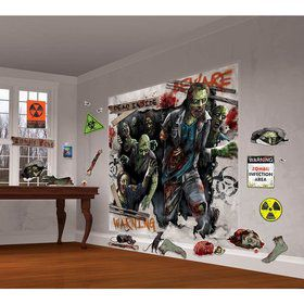 Zombie Scene Setter Wall Decorating Kit (Each)