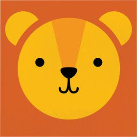Zoo Animals Lion Lunch Napkins (16)