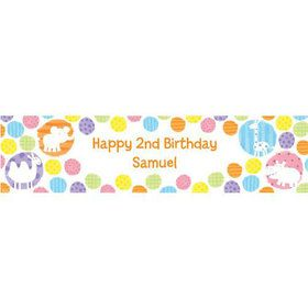 Zoo Babies Party Personalized Banner (each)
