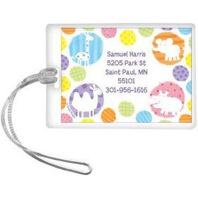 Zoo Babies Party Personalized Luggage Tag (each)