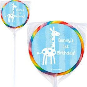 Zoo Babies Personalized Lollipops (pack of 12)