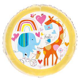 "Zoo Baby Shower 18"" Foil Balloon"