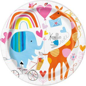 "Zoo Baby Shower 9"" Lunch Plate (8)"