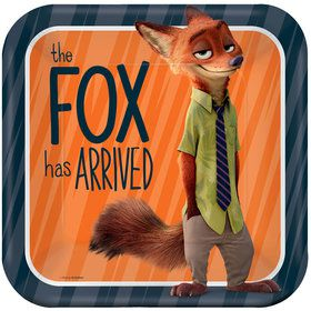 "Zootopia 9"" Square Luncheon Plate (8 Count)"