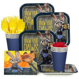 Zootopia Birthday Party Standard Tableware Kit (Serves 8)
